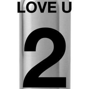 love you 2 T-Shirts - Trinkflasche