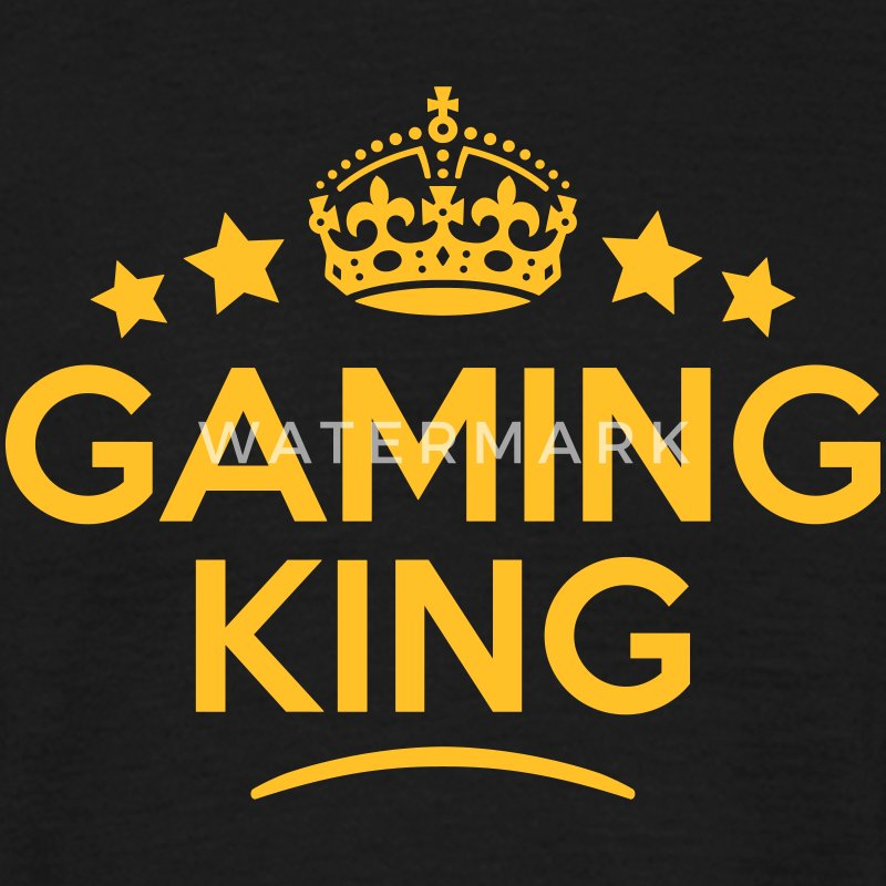 gaming king keep calm style crown stars - T-skjorte for menn