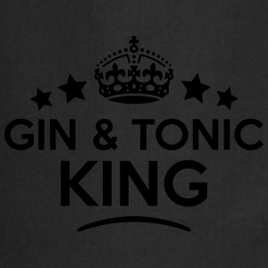 gin  tonic king keep calm style crown st T-SHIRT - Cooking Apron