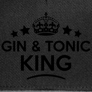 gin  tonic king keep calm style crown st T-SHIRT - Snapback Cap