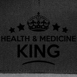 health  medicine king keep calm style cr T-SHIRT - Snapback Cap