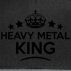 heavy metal king keep calm style crown s T-SHIRT - Snapback Cap
