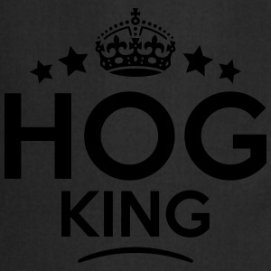hog king keep calm style crown stars T-SHIRT - Cooking Apron
