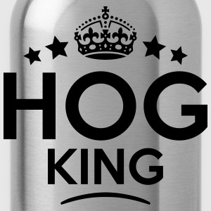 hog king keep calm style crown stars T-SHIRT - Water Bottle