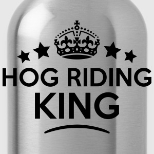 hog riding king keep calm style crown st T-SHIRT - Water Bottle