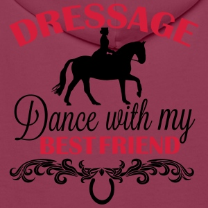 Dressage  Dance with my best friend Polo Shirts - Men's Premium Hoodie