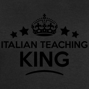 italian teaching king keep calm style cr T-SHIRT - Men's Sweatshirt by Stanley & Stella