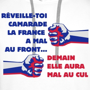 Front  National  France Démocratie - Sweat-shirt à capuche Premium pour hommes