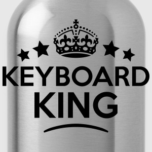 keyboard king keep calm style crown star T-SHIRT - Water Bottle