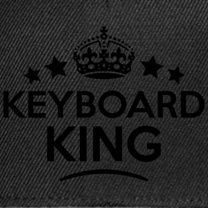 keyboard king keep calm style crown star T-SHIRT - Snapback Cap