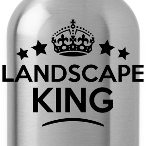 landscape king keep calm style crown sta T-SHIRT - Water Bottle