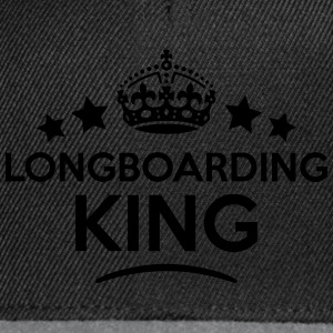 longboarding king keep calm style crown  T-SHIRT - Snapback Cap