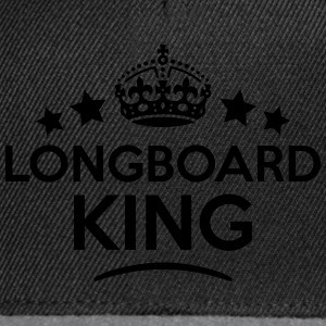 longboard king keep calm style crown sta T-SHIRT - Snapback Cap