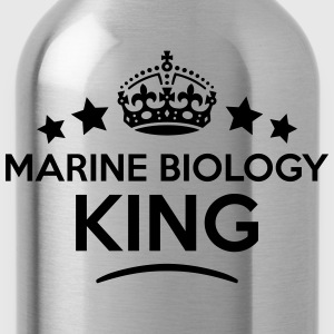 marine biology king keep calm style crow T-SHIRT - Water Bottle