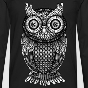 Heather Black Owl Eagle Owl Hoodies & Sweatshirts - Men's Premium Longsleeve Shirt