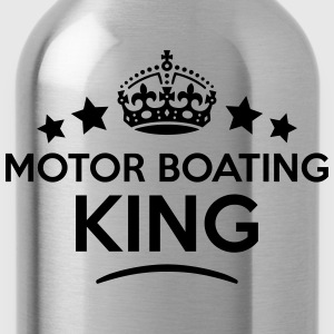 motor boating king keep calm style crown T-SHIRT - Water Bottle