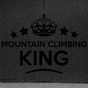 mountain climbing king keep calm style c T-SHIRT - Snapback Cap