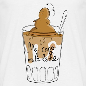 Baby bodysuit with Milk - Poo - Camiseta hombre