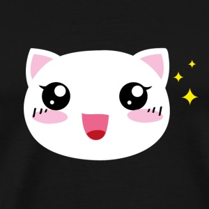 Kawaii happy Cat - Männer Premium T-Shirt