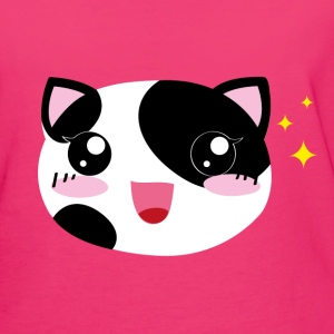 Kawaii happy Cat - Frauen Bio-T-Shirt