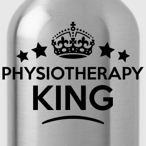 physiotherapy king keep calm style crown T-SHIRT - Water Bottle