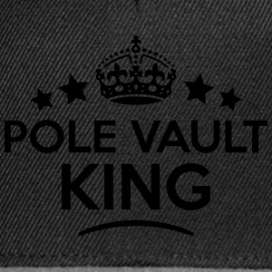 pole vault king keep calm style crown st T-SHIRT - Snapback Cap