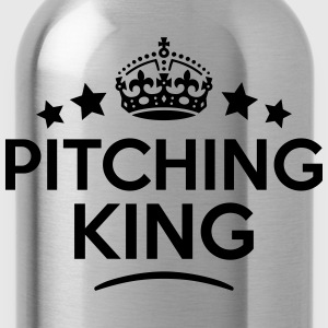 pitching king keep calm style crown star T-SHIRT - Water Bottle