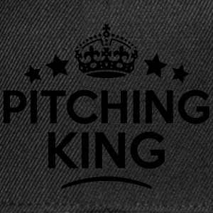 pitching king keep calm style crown star T-SHIRT - Snapback Cap