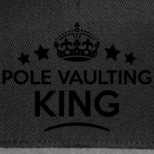 pole vaulting king keep calm style crown T-SHIRT - Snapback Cap