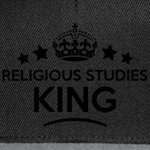 religious studies king keep calm style c T-SHIRT - Snapback Cap