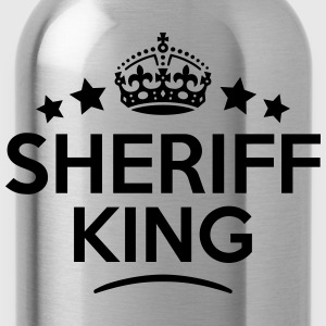sheriff king keep calm style crown stars T-SHIRT - Water Bottle