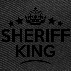 sheriff king keep calm style crown stars T-SHIRT - Snapback Cap