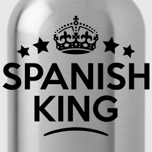 spanish king keep calm style crown stars T-SHIRT - Water Bottle