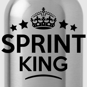 sprint king keep calm style crown stars T-SHIRT - Water Bottle