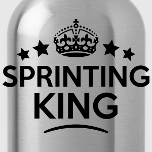 sprinting king keep calm style crown sta T-SHIRT - Water Bottle
