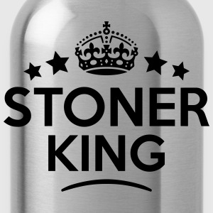 stoner king keep calm style crown stars T-SHIRT - Water Bottle