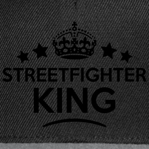 streetfighter king keep calm style crown T-SHIRT - Snapback Cap