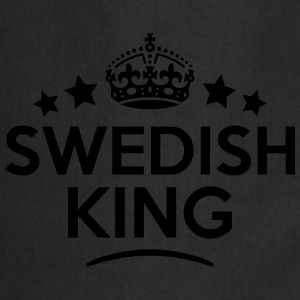 swedish king keep calm style crown stars T-SHIRT - Cooking Apron