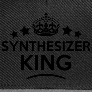 synthesizer king keep calm style crown s T-SHIRT - Snapback Cap
