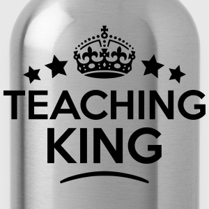 teaching king keep calm style crown star T-SHIRT - Water Bottle