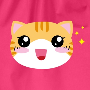 Kawaii happy Cat - Turnbeutel