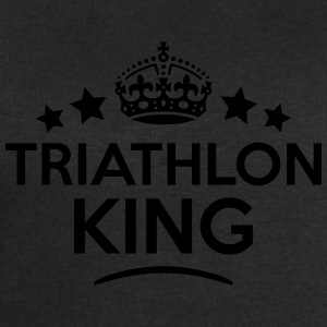 triathlon king keep calm style crown sta T-SHIRT - Men's Sweatshirt by Stanley & Stella