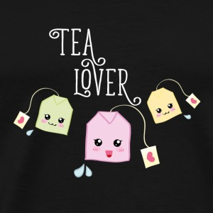 Black Tea bag kawaii Mugs & Drinkware - Men's Premium T-Shirt