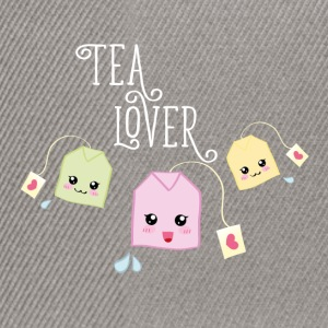Mintgrönmelerad Tea bag kawaii T-shirts - Snapbackkeps