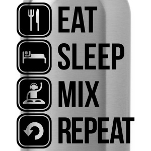 eat sleep mix repeat T-Shirts - Water Bottle