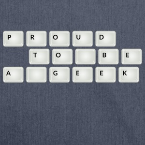 Proud to be a geek Tee shirts - Sac bandoulière 100 % recyclé