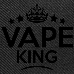 vape king keep calm style crown stars T-SHIRT - Snapback Cap