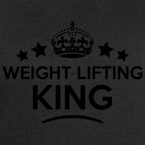 weight lifting king keep calm style crow T-SHIRT - Men's Sweatshirt by Stanley & Stella