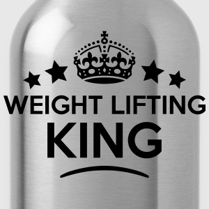 weight lifting king keep calm style crow T-SHIRT - Water Bottle