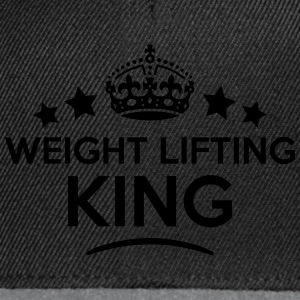 weight lifting king keep calm style crow T-SHIRT - Snapback Cap